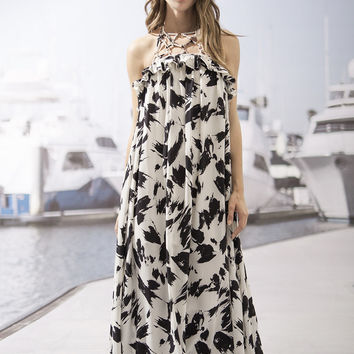 MIdnight Floral Maxi Dress