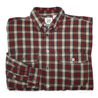 Vintage Gap Heavy Plaid Shirt Mens Size Medium
