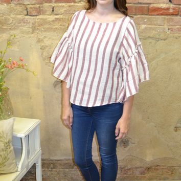 Never Say Never Striped Top