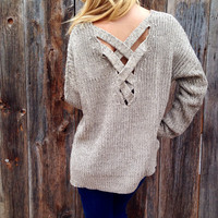 Criss Cross Back Sweater