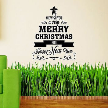 Wall Decals Christmas Decorations Holiday Home Door Decor Sticker Mural MR848