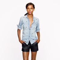 Boy shirt in beaded chambray - shirts & tops - Women's new arrivals - J.Crew
