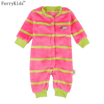 2016 Baby Clothes Flannel Newborn Clothing Infant Baby Rompers Jumpsuit Costume New Born Clothes Girls Boys One-pieces
