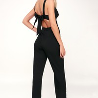Eureka Black Tie-Back Jumpsuit