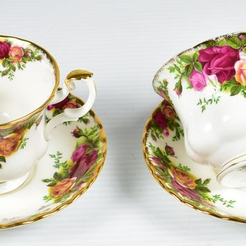Royal Albert, Old Country Roses Tea Cup & Saucer - Set of 2