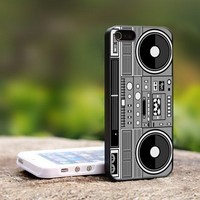 Retro BOOMBOX Vintage - For iPhone 5 Black Case Cover
