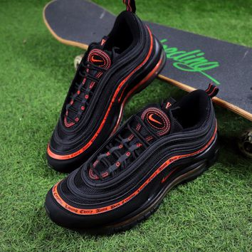 Best Online Sale Vlone x  Nike Air Max 97 OG QS Black Orange Sport Running Shoes  884421-001