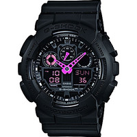 G-Shock Neon Highlights Black & Neon Pink Ana-Digi Watch - Black
