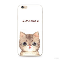 Unique Lovely Meow Cat Iphone Case +  Nice Gift Box