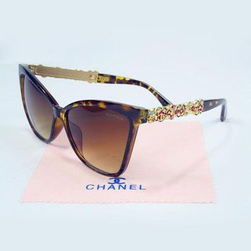 Perfect CHANEL Women Casual Summer Sun Shades Eyeglasses Glasses Sunglasses