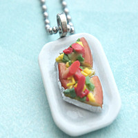 Pizza Plate Necklace