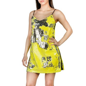 Imperial Yellow V-Neck Sleeveless Dress