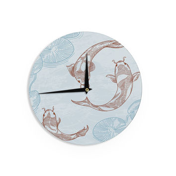 "Sam Posnick ""Koi"" Wall Clock"