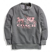 Coach :: HORSE AND CARRIAGE SWEATSHIRT WITH LEATHER
