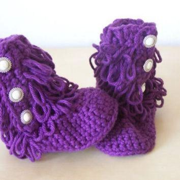 CREY1O baby girl clothing, baby crochet boots, ugg style boots