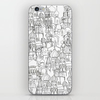 Russian cathedral church line drawing iPhone Skin by Color and Color