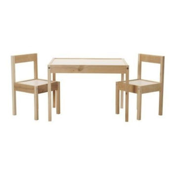 IKEA Children's Kids Table & 2 Chairs Set Furniture (1) 1 Table and 2 chairs