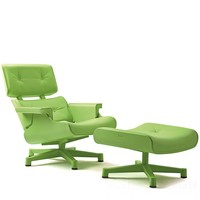 Mal 1956 Eames Loungechair Loungestoel en Poef - Mal Furniture