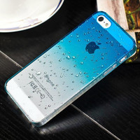 Phone Protective Shell Fresh 3D Raindrops Waterdrop Gradient Cases/Cover For iphone 5 iPhone 5 5S Case For iPhone5 6 4 4S case