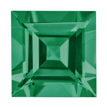 Loose Emerald Gemstone  1.75mm Square Step Cut  A Quality