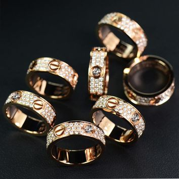 Trendy Lovers ring men and women in Cartier fashion trendy fashion trendy ring F