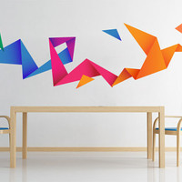 Origami Bird Wall Decal Sticker for housewares - Origami Decor