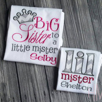 Big Sister - Little Brother Sibling Set
