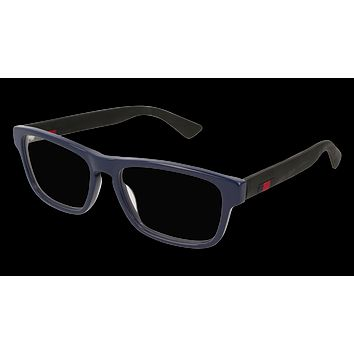 Gucci - GG0174O-008 Blue Black Eyeglasses / Demo  Lenses