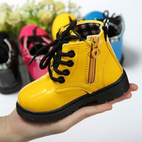 Fashion Cute Baby Shoes Girls Boys Martin Boots Childrens Kids Water-proof Shoes = 1946672068