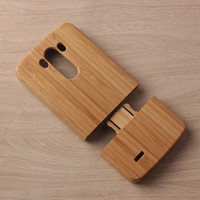 High Quality Nature Wooden Back Phone Case For LG G3 D855