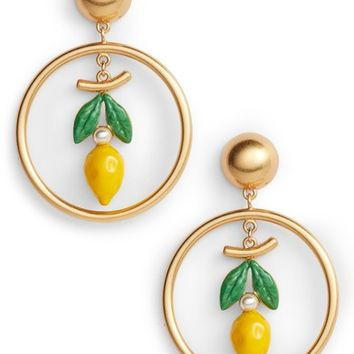 Tory Burch Lemon Hoop Drop Earrings | Nordstrom