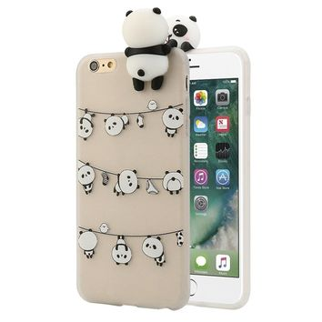 Transer 3D Cartoon Animals Cute Bears Soft Silicone Case For IPhone 6/6s Plus 5.5Inch