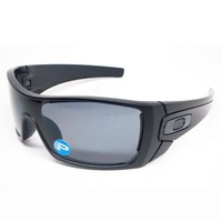 Oakley Batwolf Sunglasses Matte Black Frame Polarized Grey Lens OO9101-04