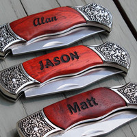 Personalized Pocket Knife -  Groomsman Gift - Father's Day Gift - Wedding Party Gift - Groomsmen Gift