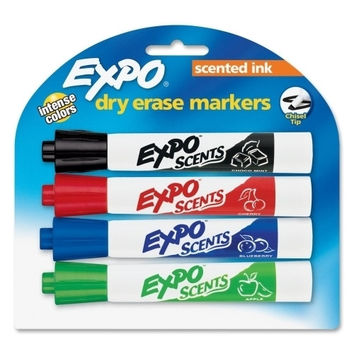 Sanford Ink Corporation Scented Whiteboard Marker,Chisel,4/ST,ChocMint/Chr/Apple/Bry