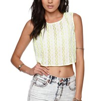 Kendall & Kylie High Rise Braided Shorts - Womens Shorts - Blue -
