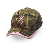 Browning Gunner Camo Hat, Oak Infinity/Pink, Semi-Fitted