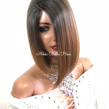 Brown Ombre Lace Front Wig | Soft Layered Hair | Alexa 1018 17