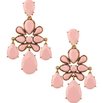 Oscar de la Renta - Faceted Chandelier Clip-On Earrings, Blush