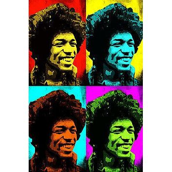 wild JIMI HENDRIX celebrity SINGER multiple image POP ART POSTER 24X36