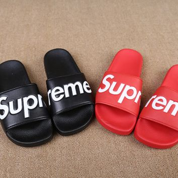 Couples Unisex street fashion supreme Slippers Home Beach Wear