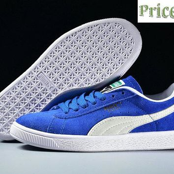 2018 Cheap PUMA Clyde Platform Suede Classic 352634 64 OLYMPIAN BLUE sneaker