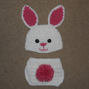 Easter Bunny Hat & Diaper Cover