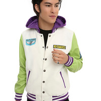 Disney Pixar Toy Story Buzz Lightyear Space Ranger Hooded Varsity Jacket