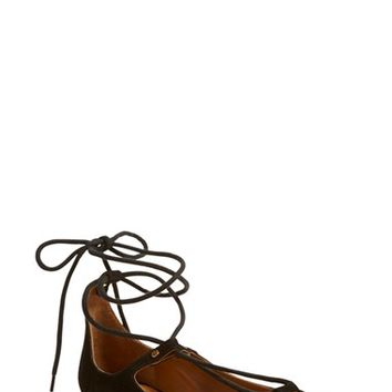 Chloé 'Foster' Lace-Up Ballet Flat (Women) | Nordstrom