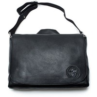DCCKUG3 Gucci Black Soho Leather Diaper Bag New Authentic w Changing Pad
