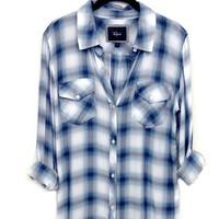 Rails Carmen buttondown in sky blue