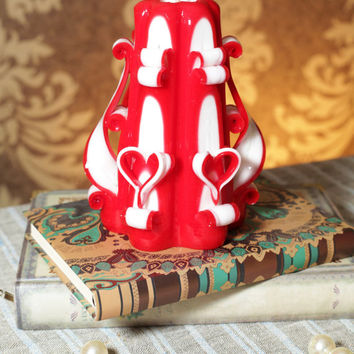 Carved candles, Handmade candle Valentine Day. Home decor. Free Shipping. Uniques gift. For her. Romantic