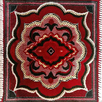 Bordo carpet rug Vintage decorative carpet Miniature oriental rug Small area decor Dolls living room decoration Ethnic dollhouse Gift idea