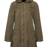 Brat and Suzie Khaki Hooded Parka